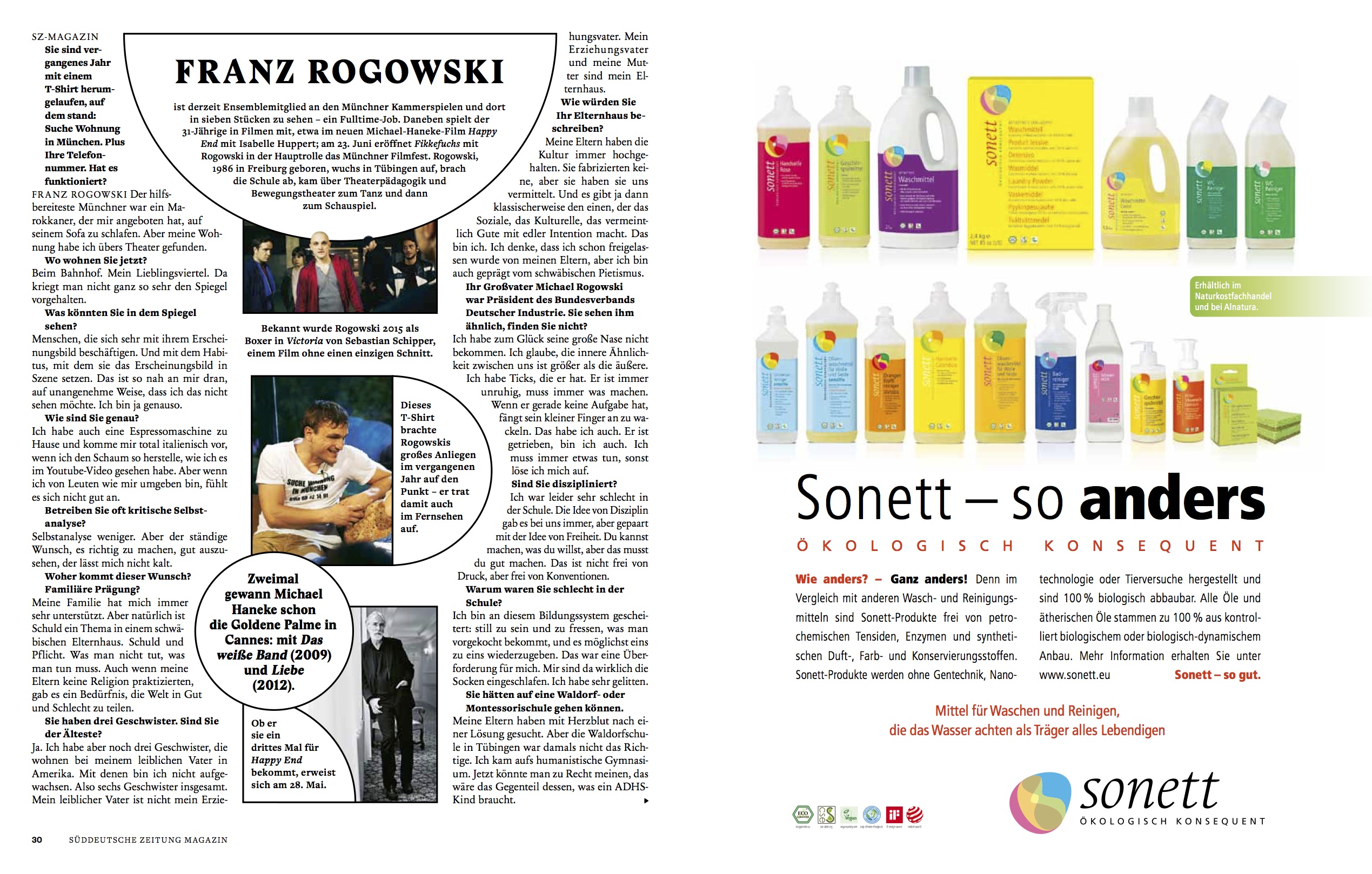 Franz Rogowski @ SZ Magazin