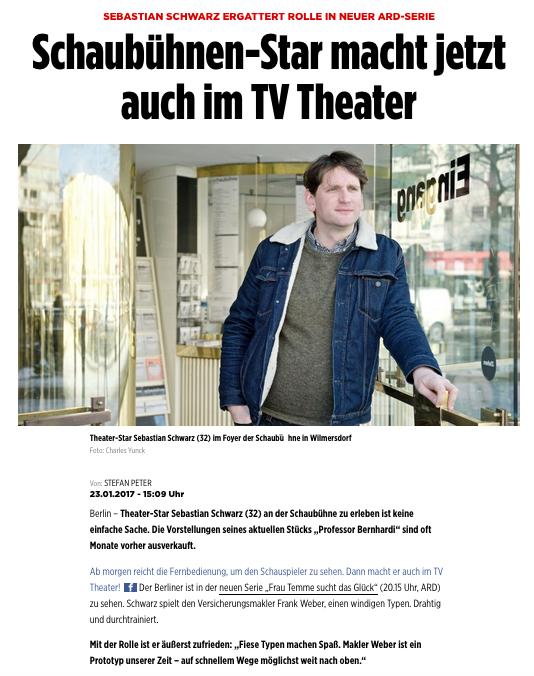 Sebastian Schwarz @ Bild.de