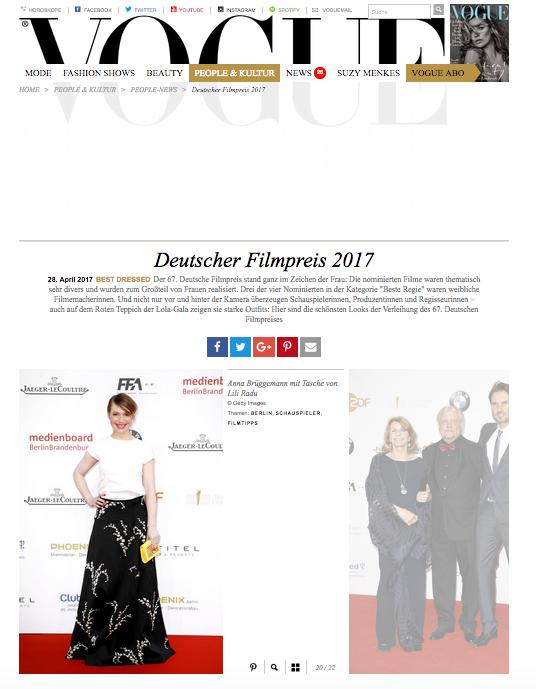 Anna Brüggemann @ Vogue