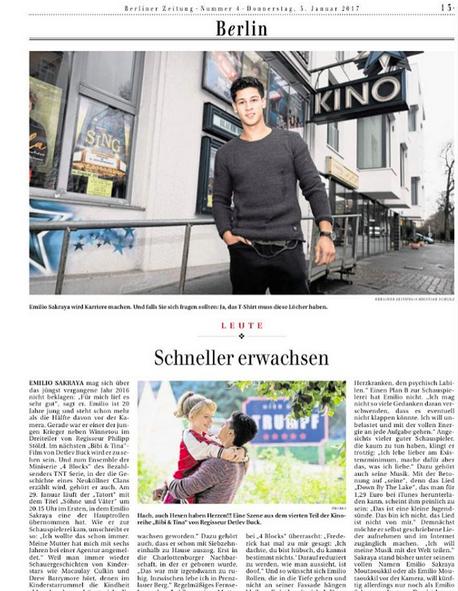 Emilio Sakraya @ Berliner Zeitung