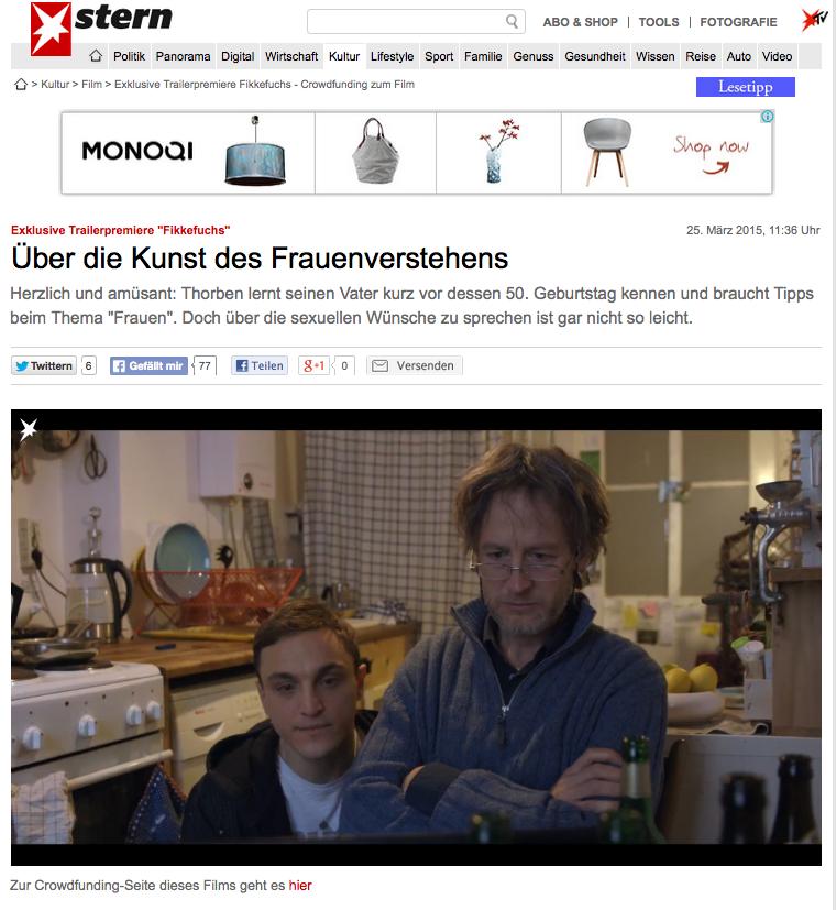 Stern.de -Trailerpremiere Fikkefuchs