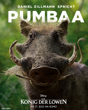 "Daniel Zillmann speaks Pumbaa in ""Lion King."""