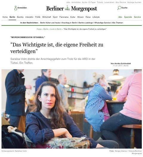 Saralisa Volm @ Berliner Morgenpost