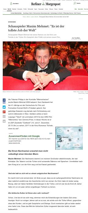 Maxim Mehmet @ Berliner Morgenpost