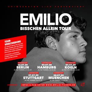 """Emilio Sakraya """"Bisschen Allein""""-Tour verlegt"""