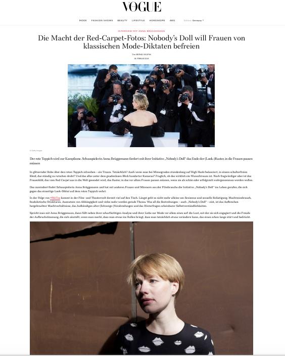 Anna Brüggemann @Vogue.de