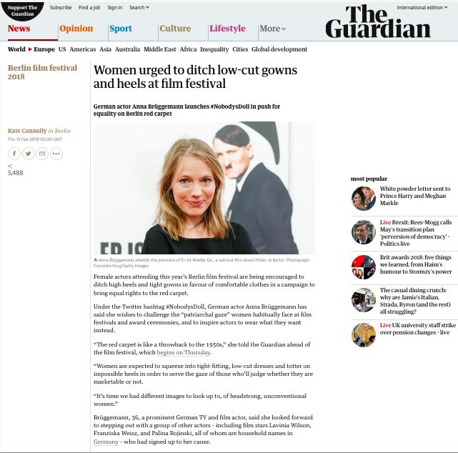 Anna Brüggemann @ Guardian