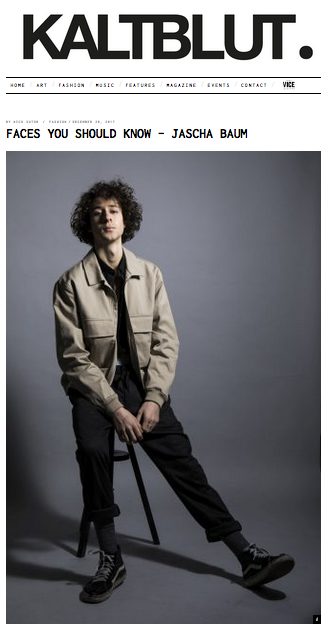 Jascha Baum @ Kaltblut Magazin