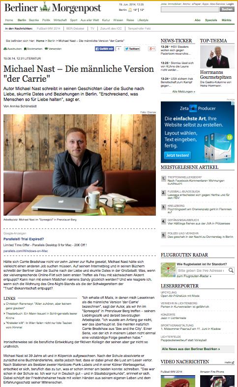 Berliner Morgenzeitung -Michael Nast