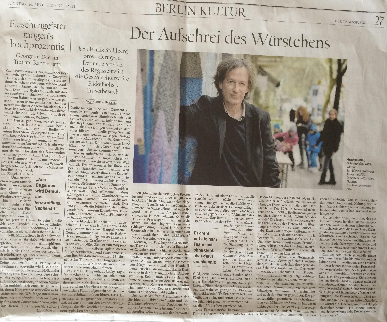 Tagesspiegel - Jan Henrik Stahlberg