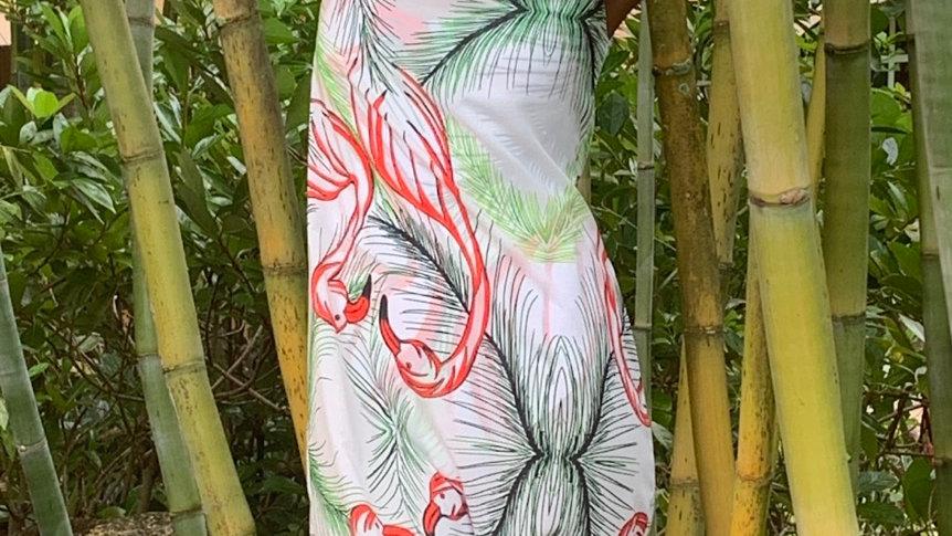 Tunic dress -Flamingo Print