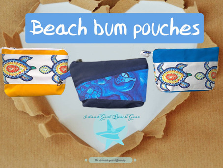 Beach bum pouches!