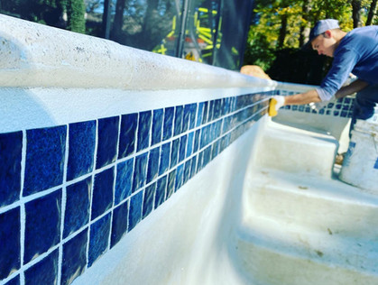 Waterline tile replacement