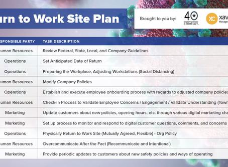Return to Work Site Plan