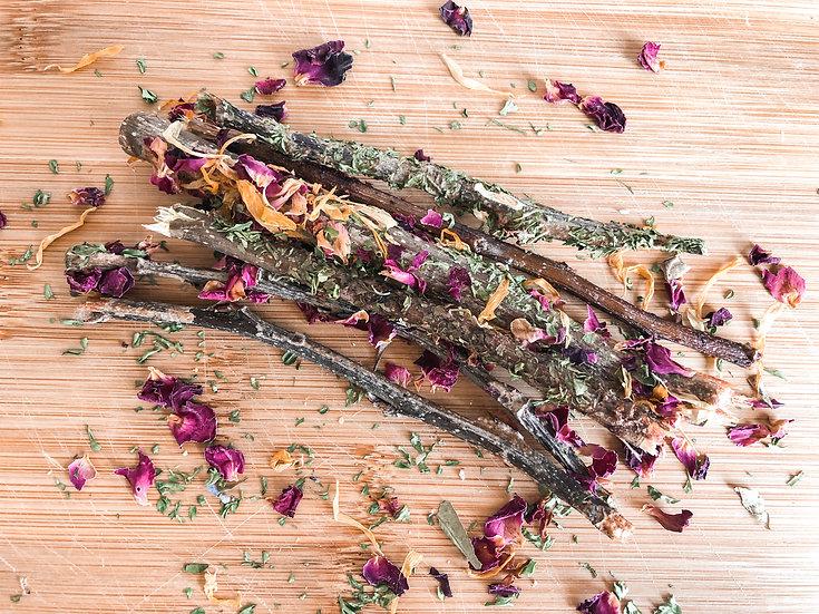Floral & Herbal Baked Apple Sticks