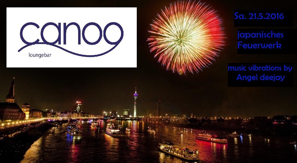 Canoo japanisches Feuerwerk 2016