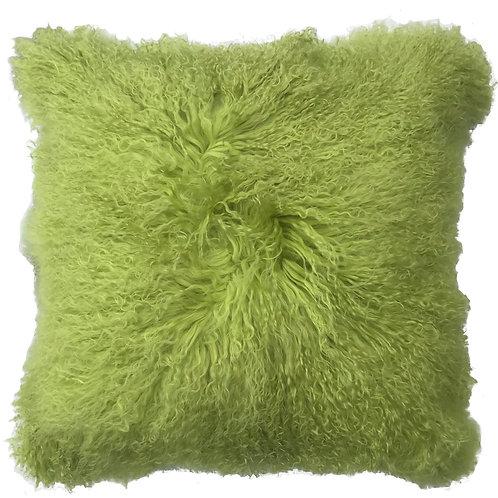 Lime Tibetan Lamb Pillow