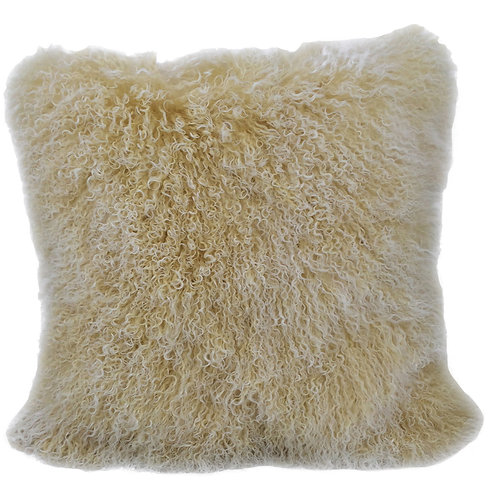 Champagne Tibetan Lamb Pillow