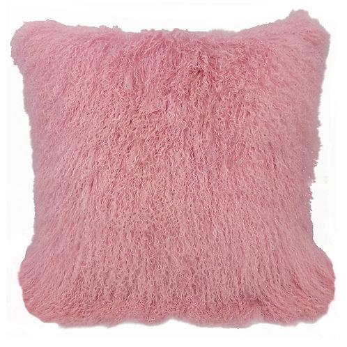 Pink Tibetan Lamb Pillow
