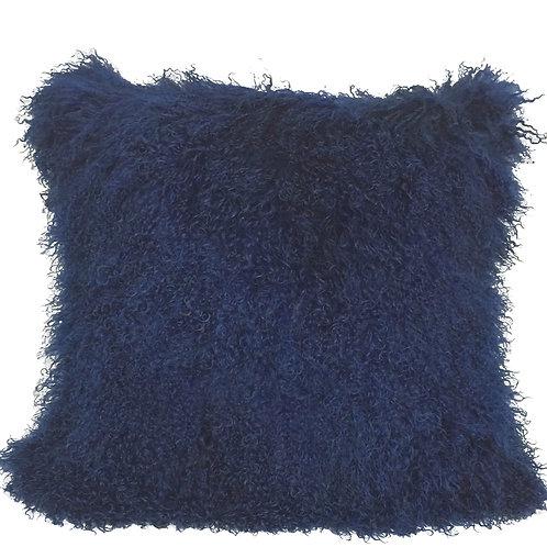Navy Tibetan Lamb Pillow