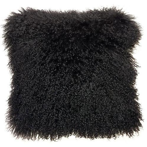 Black Tibetan Lamb Pillow