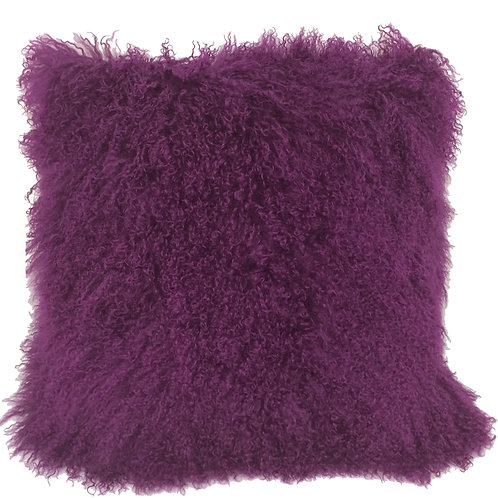 Royal Purple Tibetan Lamb Pillow