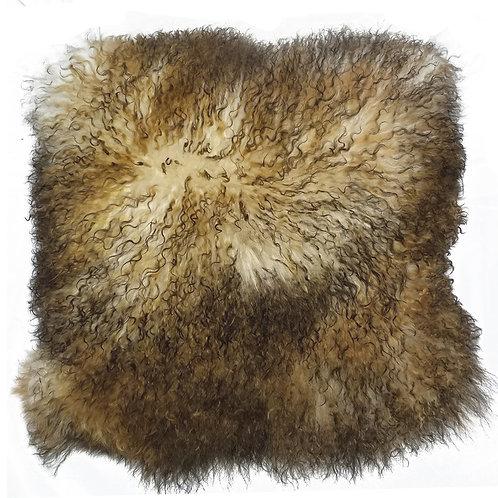 Coyote Tibetan Lamb Pillow