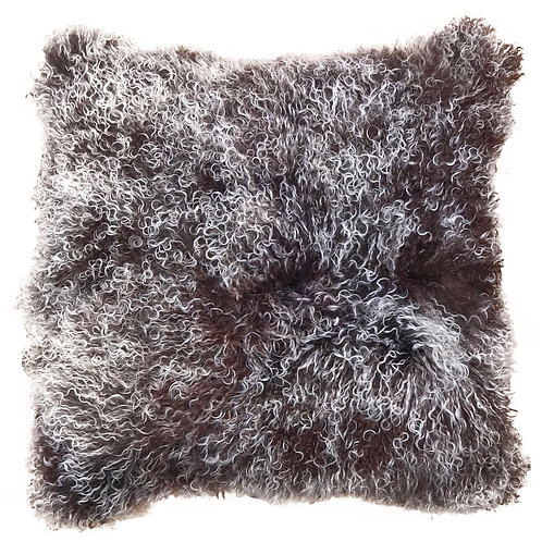 Brown Snowtop Tibetan Lamb Pillow