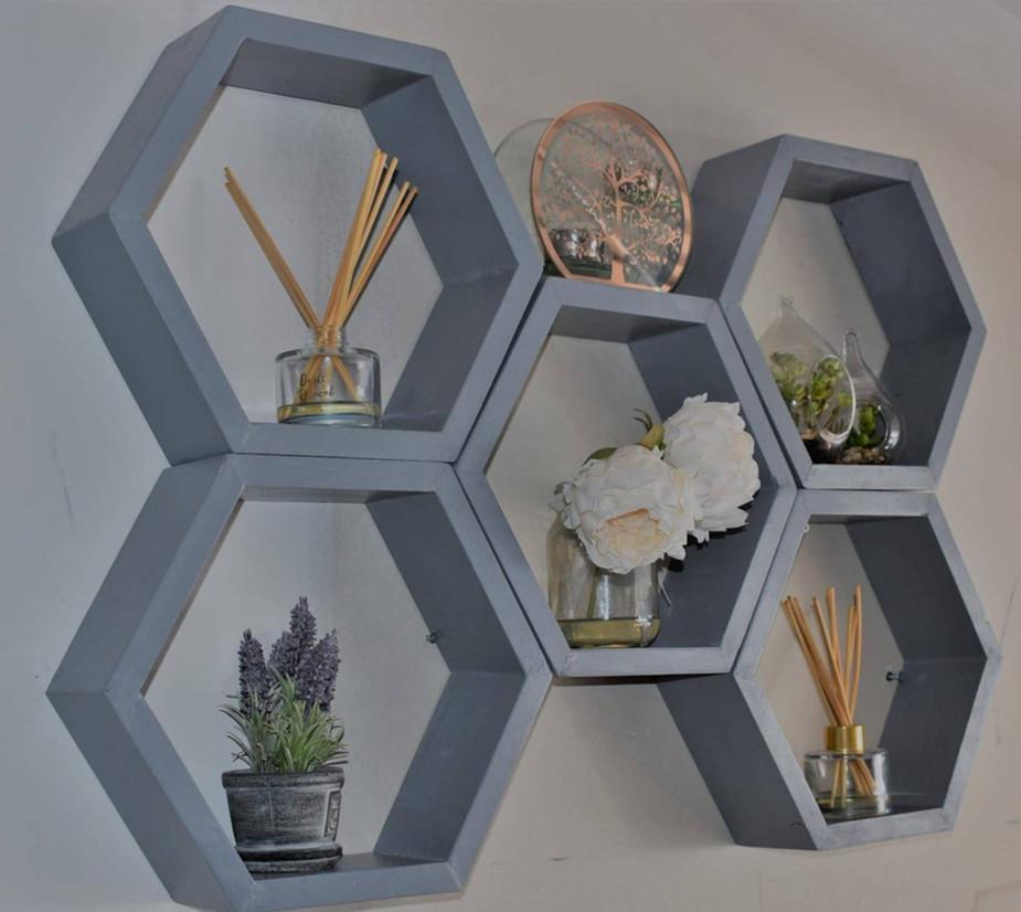 Honeycomb Grey Shelves