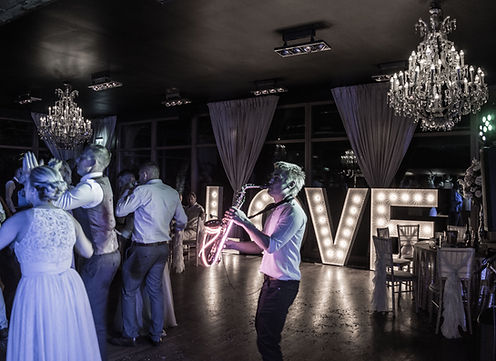 Light Up Sax Player Wedding