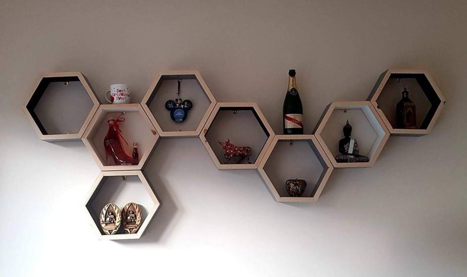 Bespoke Honeycomb Shelves