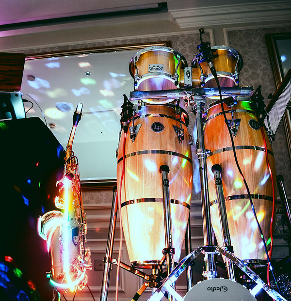 LedSax and Congas setup