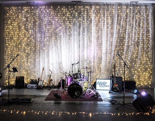Live Band setup at Beamish Hall