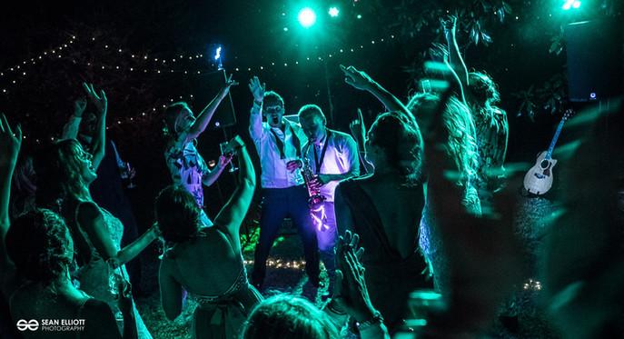 Light Up Sax Wedding Party