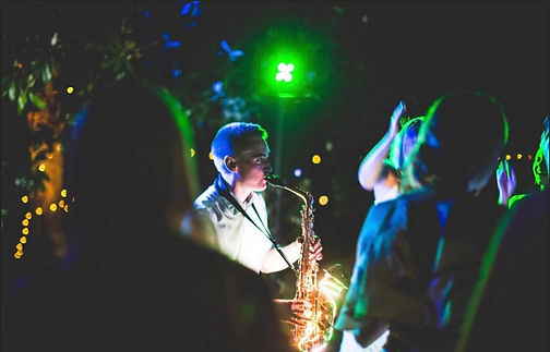 Andy Usher Light Up Sax south of france wedding