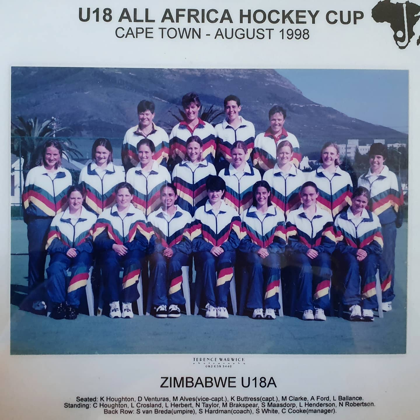1998 ZIMBABWE U18A CAPE TOWN ALL AFRICA TOURNAMENT