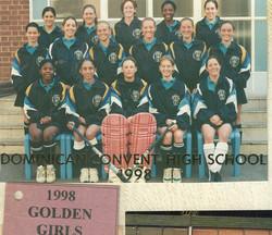 DCHS GOLDEN GIRLS CHAMPIONSHIP WINNERS 1998