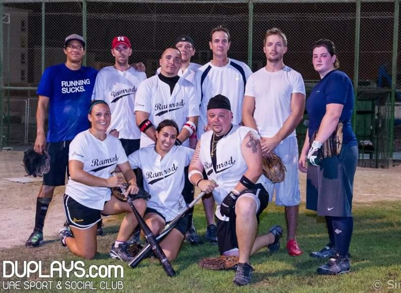 DUBAI 2012 SOFTBALL CHAMPIONS TEAM RAMROD
