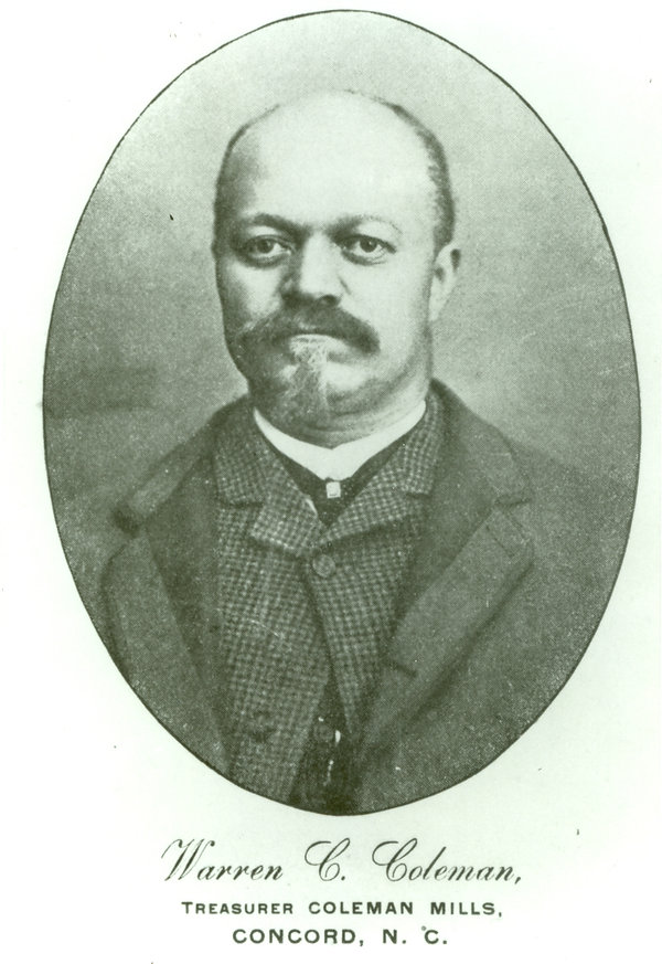 Warren Clay Coleman barringer's illegitimate son textile mill