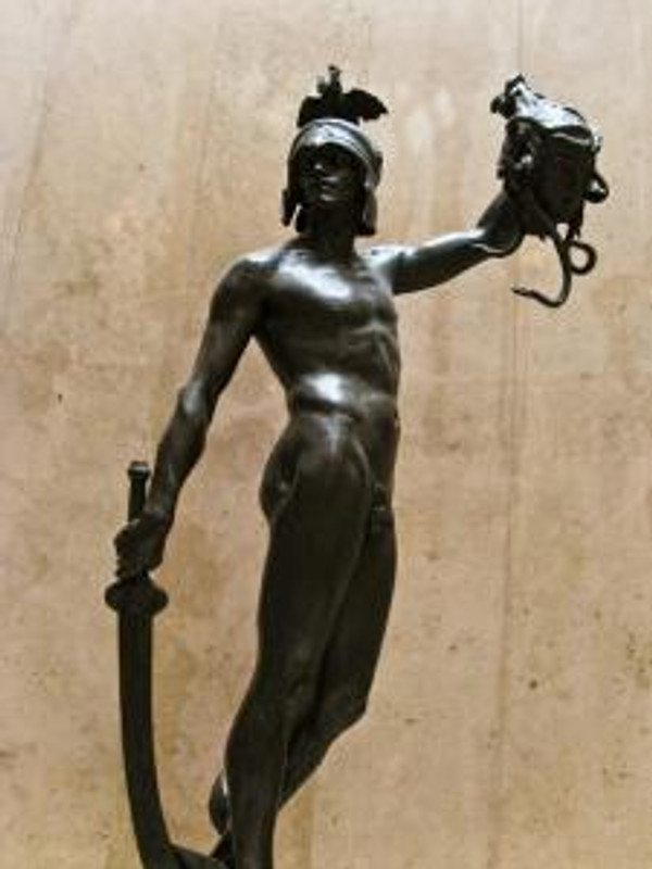 Original image URL: http://www.flickr.com/photos/chrisbewick/2244666068/  Title: Perseus & Medusa