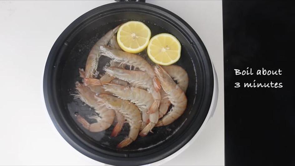 Homemade Boiling Shrimp Cooking Video