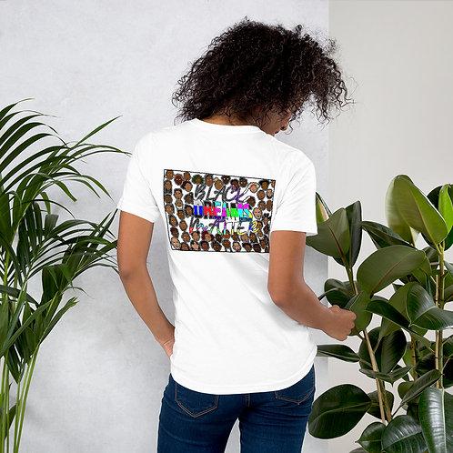 """""""Black DREAMS Matter""""White Short-Sleeve Unisex T-Shirt"""