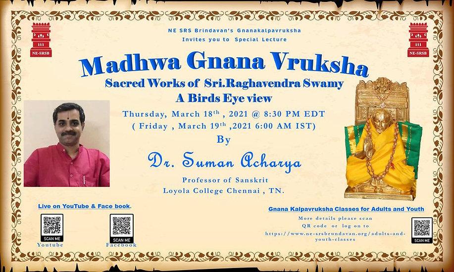 Madhwa Gnana Vruksha - Sri Rayaru Works