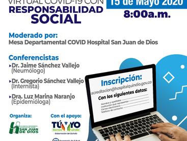 Foro Departamental VIRTUAL COVID-19 CON RESPONSABILIDAD SOCIAL