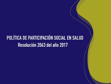 POLÍTICA DE PARTICIPACIÓN SOCIAL EN SALUD