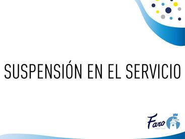 SUSPENSIÓN DEL SERVICIO SEDE ADMINISTRATIVA