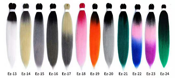 (25 Packs Per Colour) PRE-STRETECHED OMBRE