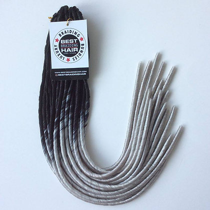 5 BUNDLES YABA LOCS (small): BLACK/GREY