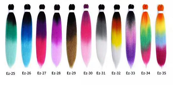 (25 Packs Per Colour) PRE-STRETECHED OMBRE