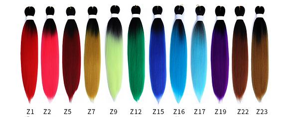 (50 Packs Per Colour) PRE-STRETECHED OMBRE